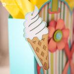 Vanilla Ice Cream Cone Tag