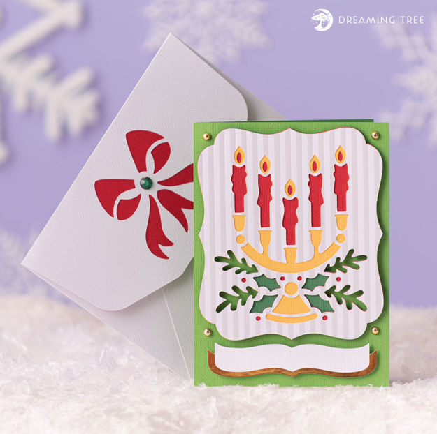 Picture of Candelabra Greeting Card SVG