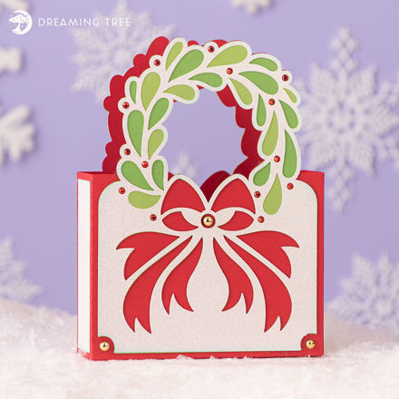 Picture of Christmas Cards Cache Tote SVG