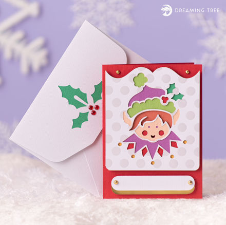 Picture of Elf Greeting Card SVG