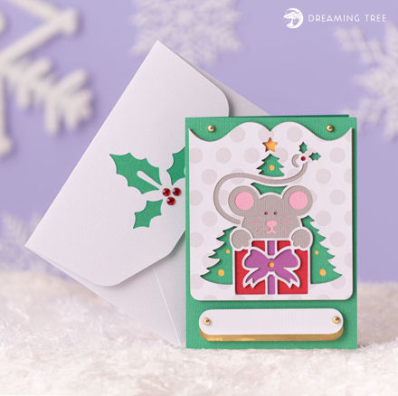 Picture of Mouse Greeting Card SVG