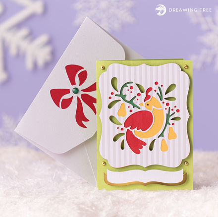 Picture of Partridge Pear Greeting Card SVG