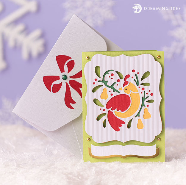Partridge Pear Christmas Greeting Card