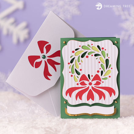 Picture of Wreath Greeting Card SVG