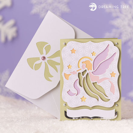 Picture of Angel Greeting Card (Free SVG)