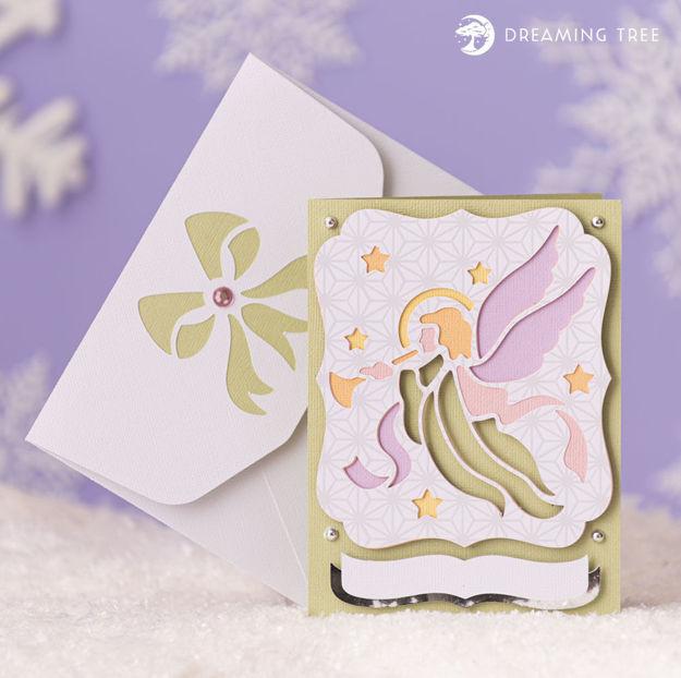 Angel Greeting Card (Free SVG)