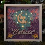 Fairy Moon Paper Sculpture