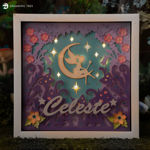 Moon Fairy Paper Sculpture SVG