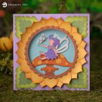 Mushroom Fairy Card SVG