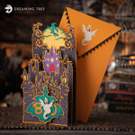 Halloween Full Moon and Witch Card