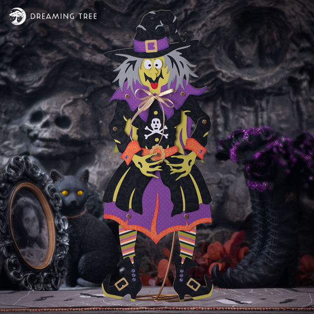 Jolly Jointed Witch SVG