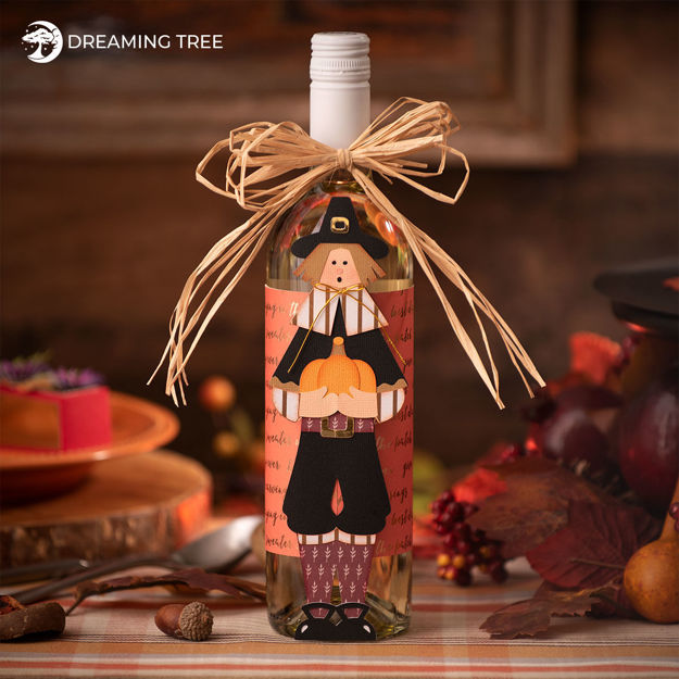 Thanksgiving Pilgrim Wine Bottle Wrapper and Host Hostess Gift
