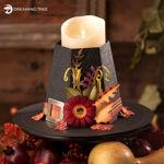 Thanksgiving Pilgrim Hat Centerpiece Candle Holder